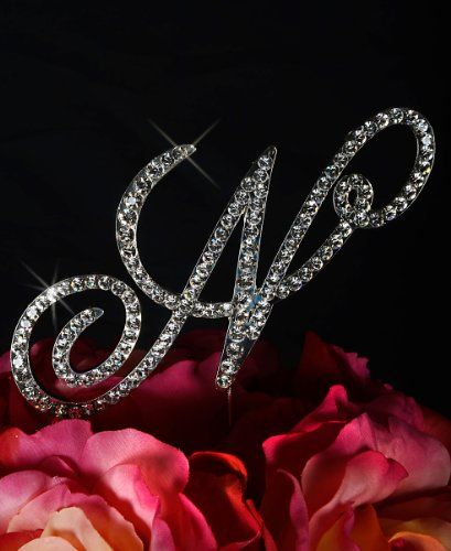 Unik Occasions Victorian Crystal Rhinestone Wedding Cake Topper Large Letter N Silver >>> Check out this great product.
