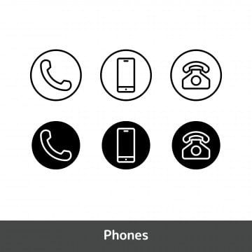 Phone Icons Call Icons Symbol Icons Phone Vector Icon Symbol Cell Illustration Communication Internet Sign Web Smart Call Message Tele Icon Set Phone Icon Icon