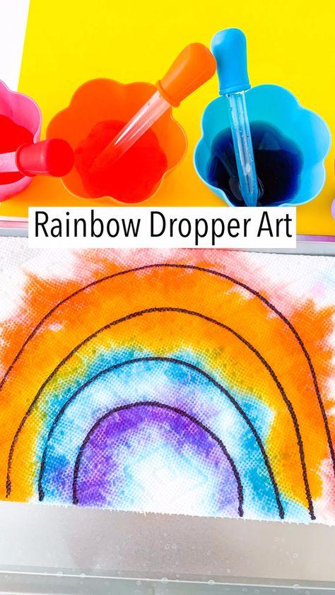 Simple Rainbow Art for Kids