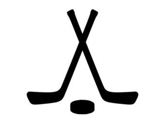 340x270 Hockey Sticks Clipart In 2020 Hockey Hockey Stick Clipart Black And White