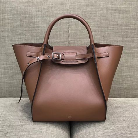 Celine Small Big Bag With Long Strap in Smooth Calfskin Brown 2018