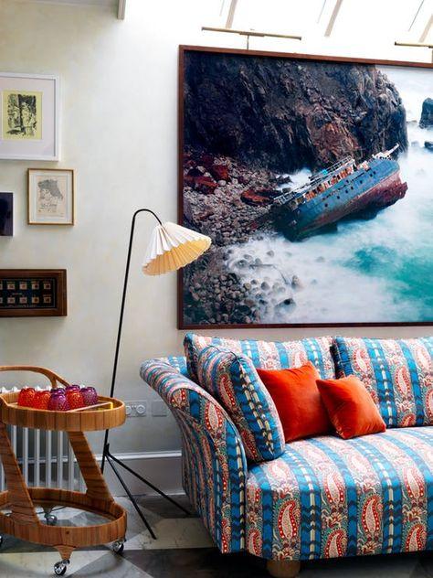 west london house lounge basement coastal by beata heuman ltd rh pinterest com au