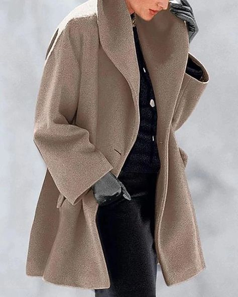 New Warm Fashion Double-faced Fabric Multi-Color Shawl Collar Coat – Prilly outwear fashion outwear jacket warm coat outfit coats for women #fallcoats#warm#casualcoats