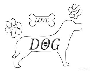 I Love My Dog Coloring Page Dog Coloring Page Coloring Pages I Love Dogs