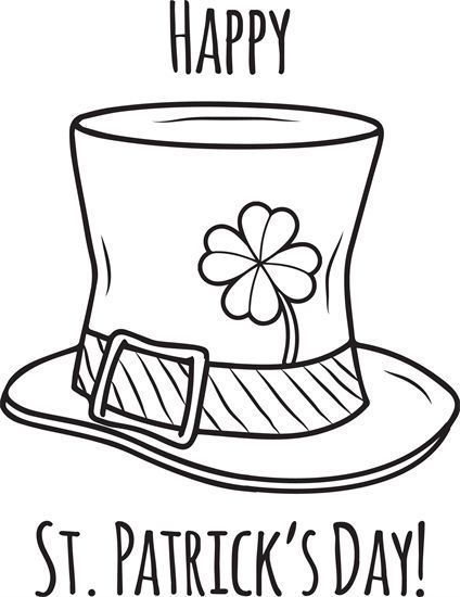 Happy St Patrick S Day Coloring Page St Patricks Day Crafts For