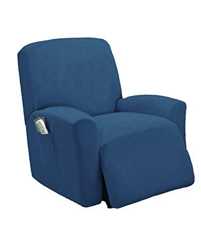 Stretch To Fit One Piece Lazy Boy Chair Recliner Slipcover Stretch Fit Furniture Chair Recliner Cov Recliner Chair Covers Slipcovers For Chairs Recliner Cover