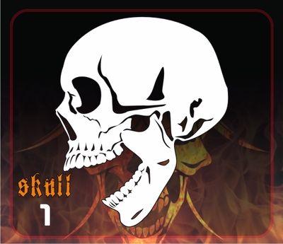 AEROSPACE Airbrush Stencil - Skull 1 - 'Laughing Skull'