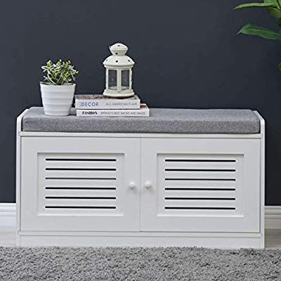 Bluemoon Shoe Storage Bench With Seating For Comfort And Style Perfect For Entryway First Impressi Bench With Shoe Storage Storage Bench Adjustable Shelving