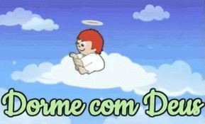 Anjo Anjinho Nuvem Ceu Dorme Com Deus Boa Noite Gif