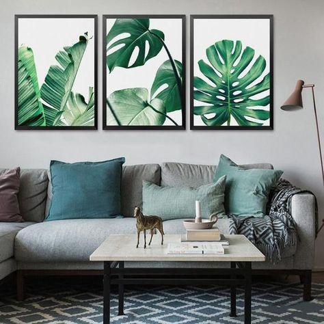 Poster Feuilles Tropicales 3 Modèles 4 Tailles Deco En
