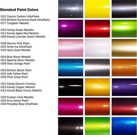 Maaco Auto Paint Color Chart In 2020 Car Paint Colors Custom Car Paint Jobs Paint Color Chart