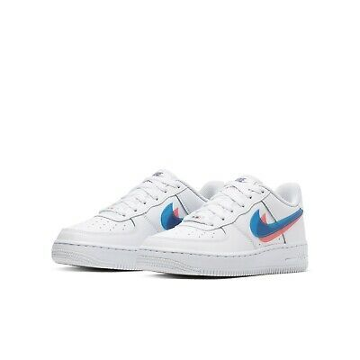 Advertisement Ebay Nike Air Force 1 Lv8 Ksa Gs White Blue Red 3d