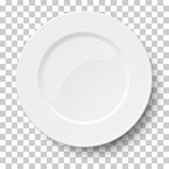 Empty Classic White Plate Isolated On Transparent Background View From Above Vector Illustration Sponsored Plat Plates White Plates Vector Illustration