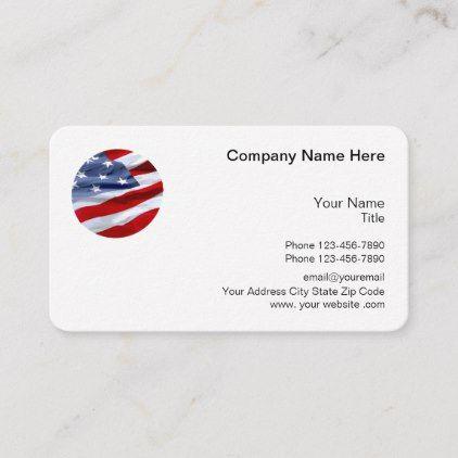 Patriotic American Logo Theme Business Card Zazzle Com American Logo Modern Business Cards Business Card Inspiration