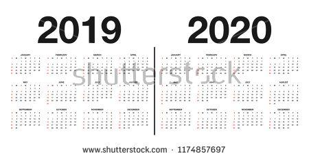 vectorsicon com Download vector icons - Calendar 2019 and