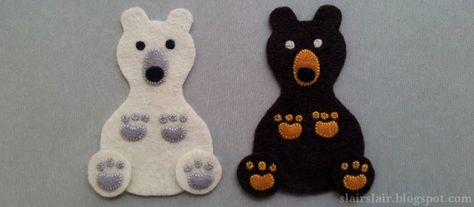 Felt or appliqué bear pattern