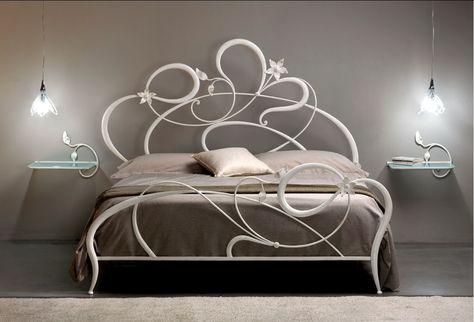 Letto in ferro mod. anemone | Design del mobile moderno ...