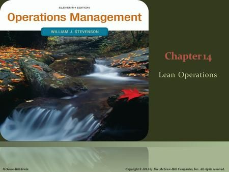 Chapter 14 Lean Operations Mcgraw Hill Irwin