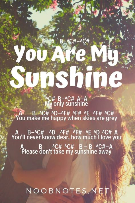 You Are My Sunshine – Johnny Cash – music notes for newbies