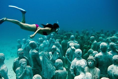 MUSA Underwater Museum of Art: Dive Into Art in Isla Mujeres, Mexico #30secondmom