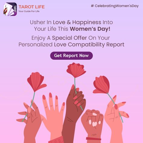 You will always be a little too much for the wrong person. This #Womensday, find if you are with the right person with your personalized #LoveCompatibility Report, now available on discounted rates. #lovetarot #womensday #women #internationalwomensday #womenempowerment #girlpower #feminism #womensupportingwomen #womeninbusiness #love #iwd #womenpower #woman #happywomensday #womenempoweringwomen #fashionblogger #womenstyle #tarot #tarotreading #lovereading #specialoffer #womensdayoffer