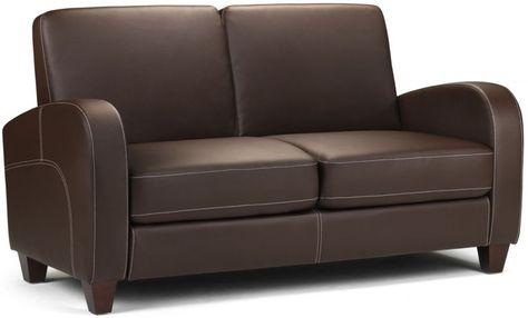 Julian Bowen Vivo Brown Faux Leather 2 Seater Sofa Sofa Sale Sofa Furniture 2 Seater Sofa