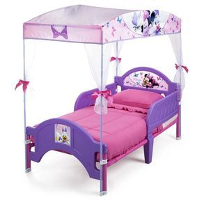 Disney Minnie Mouse Bow Tique Convertible Toddler Bed Toddler