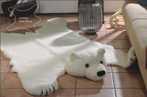 Ecology Faux Fur White Big Forest Bear Skin Plush Rug Size 86 6x54 3in With Head