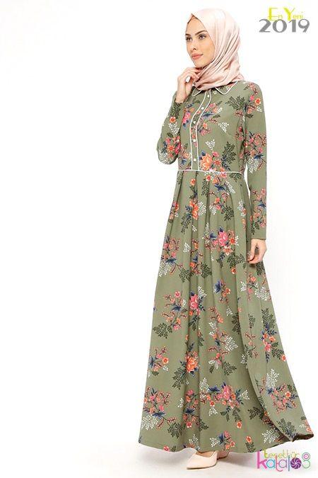Yazlik Kapali Elbise Modelleri Ginezza 2019 Tesettur Giyim Modelleri Tesettur Katalog The Dress Islami Giyim Elbise Modelleri