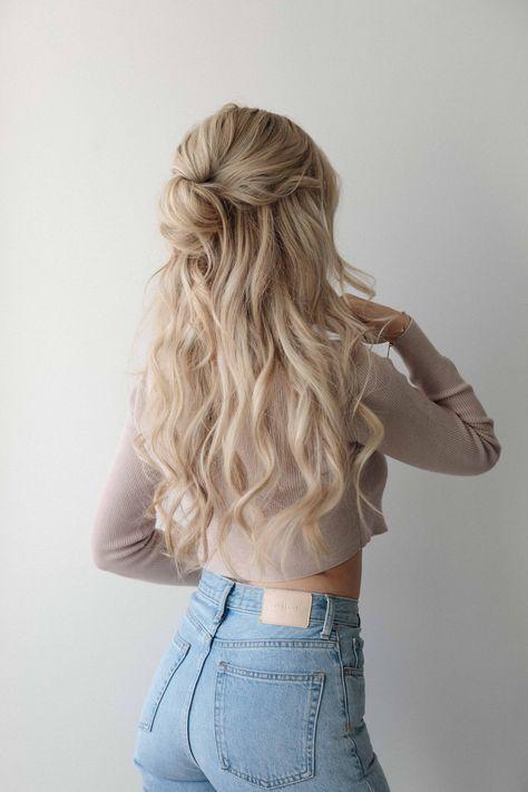 3 EASY HALF UP HAIRSTYLES SPRING 2021 - Medium - Long Hair Type