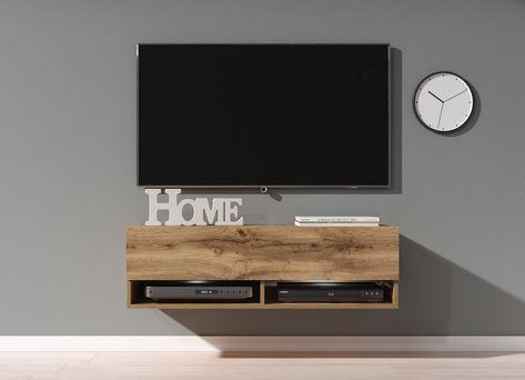 Tv Meubel 100 Cm.Tv Meubel Asino Led Eiken 100 Cm In 2020 Meubels Tv Meubels