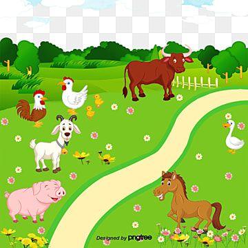 حيوانات المزرعة مزرعة المزرعة مزرعة ترفيهية مزرعة الكرتون Png وملف Psd للتحميل مجانا Gambar Hewan Kartun Hewan