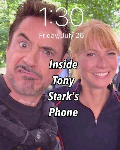 Quick look at what's inside Tony's phone