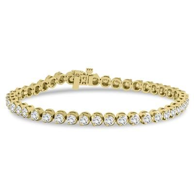 A Beautiful 3 Prong Tennis Bracelet Weighing 3 Carats In Total The Bracelet Is Crafted In 14 Tennis Bracelet Diamond Handmade Bangle Bracelets Tennis Bracelet