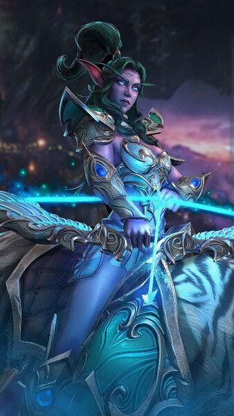 World Of Warcraft Tyrande Whisperwind Night Elf 4k Hd Mobile Smartphone And Pc Desktop Laptop Wallpap World Of Warcraft World Of Warcraft Wallpaper Warcraft
