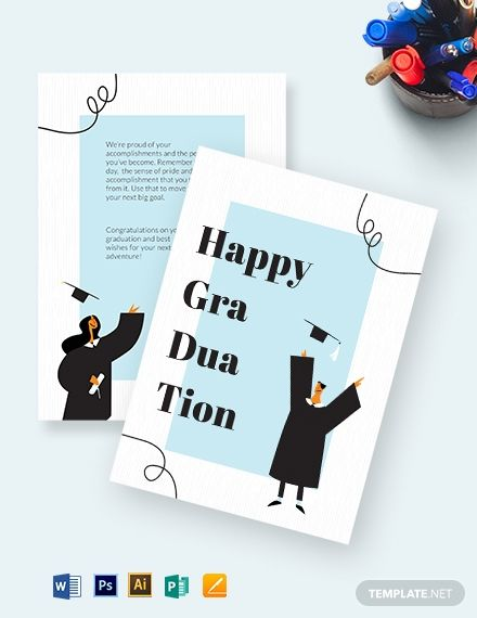 Happy Graduation Card Template Free Jpg Illustrator Word Apple Pages Psd Publisher Template Net Graduation Card Templates Happy Graduation Graduation Invitations Template