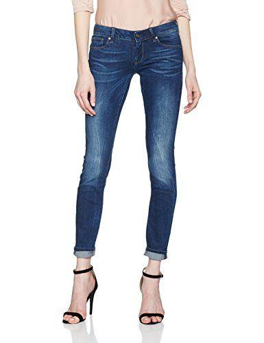 G Star Raw Raw Damen Jeans 3301 A Low Skinny Wmn Blau Medium Aged 71 W32 L32