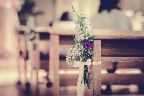 Blumendeko Kirche Blumengesteck Hochzeit M Y W E D D I N G