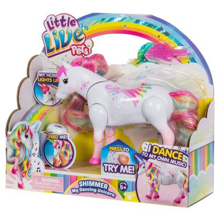 Little Live Pets Shimmer My Dancing Unicorn Click To Buy Affiliatelink Ad Hottest Gift Ideas Holiday Ch Little Live Pets Unicorn Toys Rainbow Colors