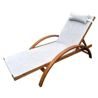 Ybanez Double Reclining Teak Chaise Lounge Teak Chaise Lounge Patio Lounge Chairs Patio Lounge
