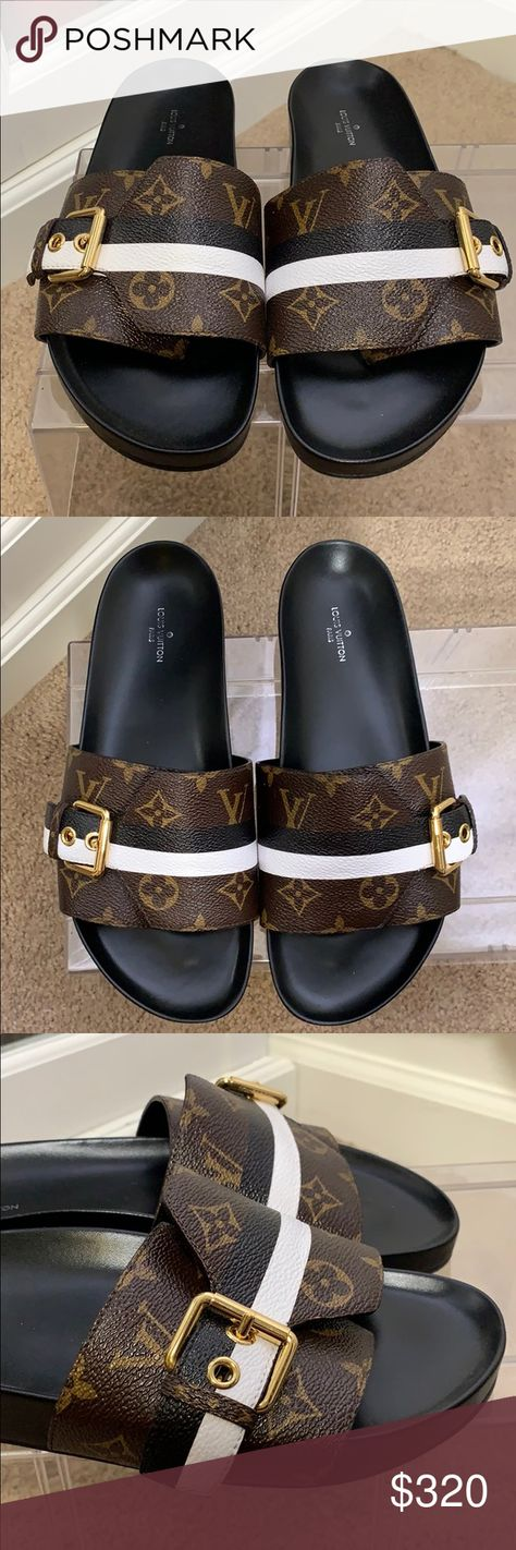 3857dd5d7178 Authentic Louis Vuitton BOM DIA FLAT MULE Slightly worn slides by LV. look  brand new