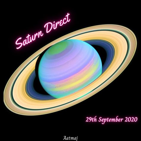 Saturn the lord of Karma is now direct. #Saturn #Saturn🪐 #🪐 #Shani #Shanidev #SaturnDirect #SaturnMargi #astrology #aatmaj #aatmaj444
