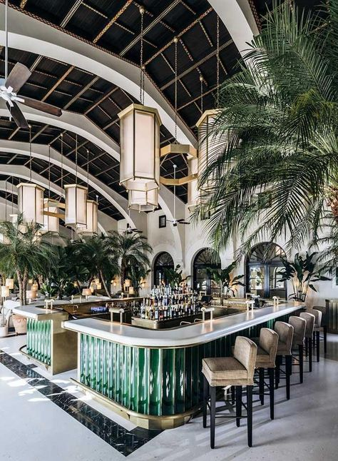 Discover more about The Surf Club Restaurant in Miami! The exclusive restaurant located in the Four Season Surf Club Hotel partly designed by Joseph Dirand. Interior Design Minimalist, Restaurant Interior Design, Design Hotel, Home Interior Design, Interior Decorating, Design Miami, Decorating Tips, Beach Restaurant Design, Luxury Interior