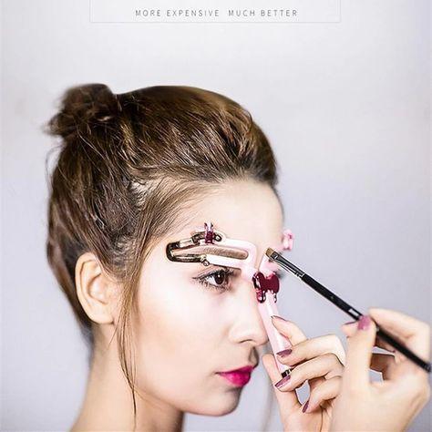 OFF Adjustable Eyebrow Shapes Stencil - Augen-Make-up - Eye-Makeup