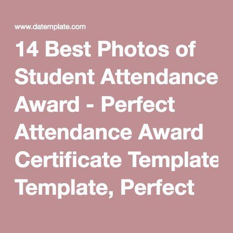 Attendance Award Certificate Template Pictures Attendance Award