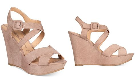 7e43874d474a Women s Betseyville Ryatt Glitter Mesh Platform Wedge Sandals - Soft Gold 9