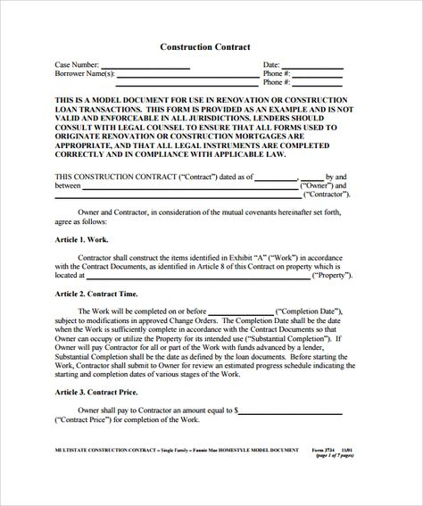 ... Best 25+ Construction Contract Ideas On Pinterest Contractor   Mortgage  Note Template ...  Mortgage Note Template