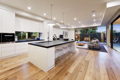 Eine Küche zum Träumen! Die Parkett Landhausdiele Plaza Eiche - Parkett In Der Küche