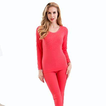 1528f6ac1c05 Amazon.com: LVLIDAN Womens Thermal Underwear Sets Long Sleeve trousers Winter  Thin Slim Fit Round neck Free size Beige: Sports & O… | Women's underwear  ...