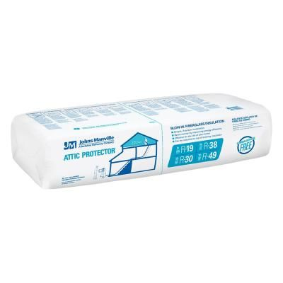 Greenfiber Low Dust Cellulose Blown In Insulation 19 Lbs Ins541ld The Home Depot Blown In Insulation Insulation Manville